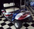 Wrapped American Flag Rt. Front Cart