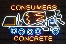 Consumers Cement Mixer Neon Sign