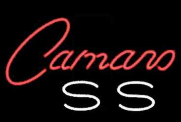 Camaro SS Word Neon Sign