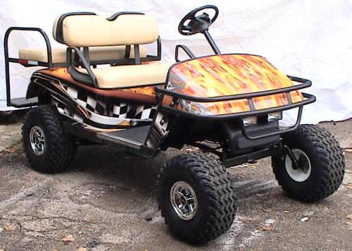 Wrapped Flamed Cart Right Front