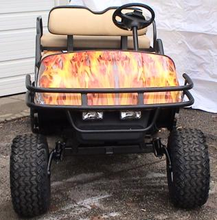 Wrapped Flamed Cart Front