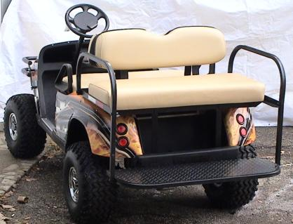Wrapped golf cart