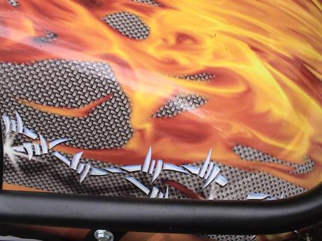 Wrapped Flamed Cart Hood
