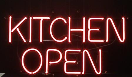 Kitchen_Open Neon Sign