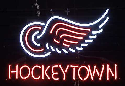 Hockeytown Neon Sign