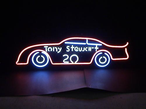 T_Stewart_Race Car Neon Sign
