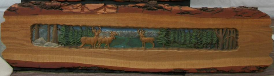 Painted Deer on Rustic Wood