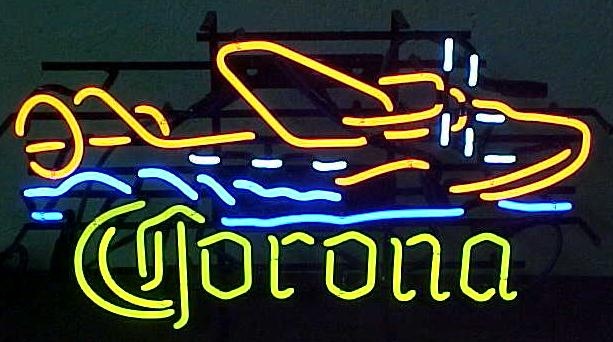 Corona Beer Sea Plane Neon Sign
