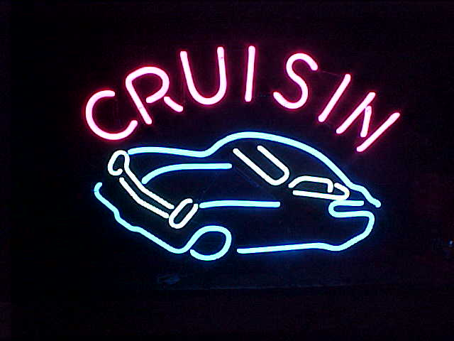 Cruisin Car Neon Sign