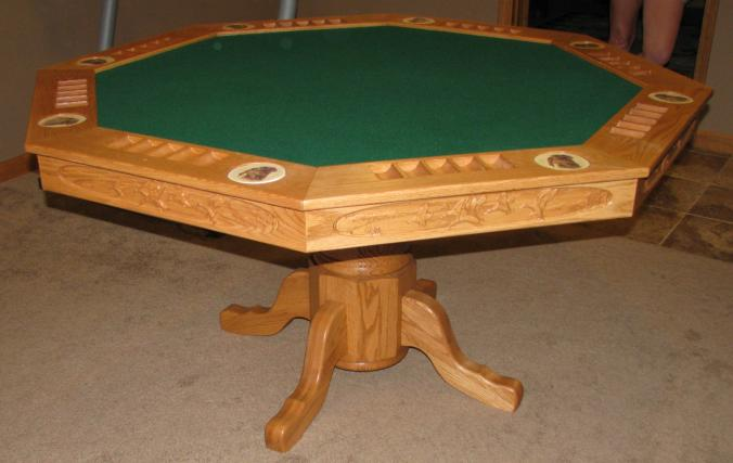 Poker Table Plain View Basic Poker Table. The Wood Smith Custom Poker Tables  Mantel Pieces and other wood