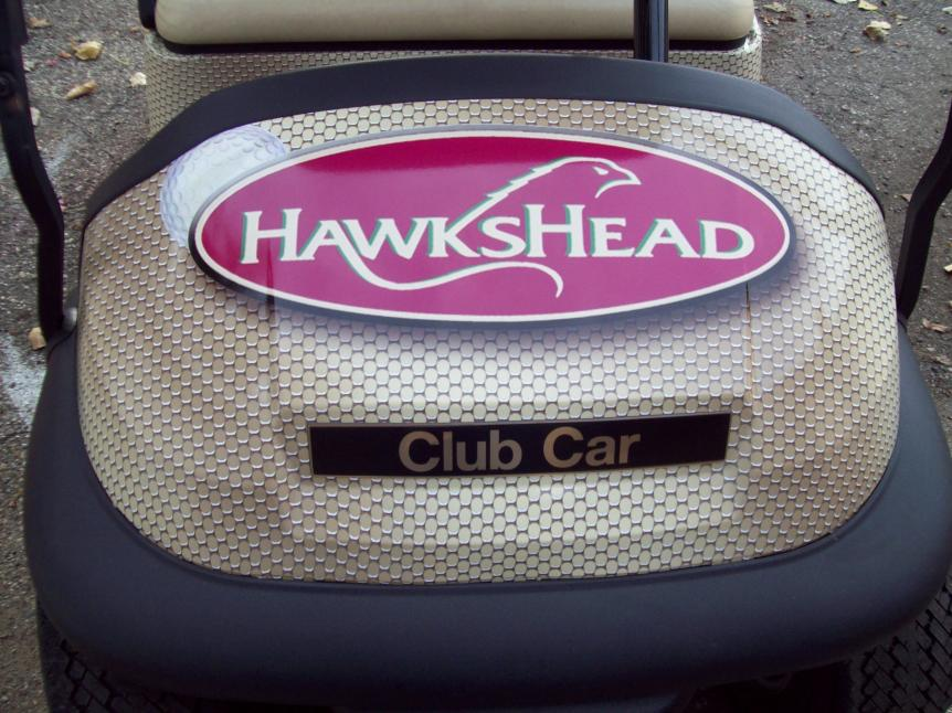 Wrapped GCA Hawks Head Front